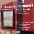 Outside Sign Blackhall Methodist Church 2018