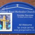 Outside Sign Grange Road Methodist Church 2018