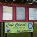 Peter lee Chapel labyrinth notice
