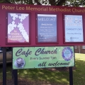 Outside Sign Peter Lee Memorial Methodist Church Photo taken 2018