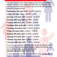 Safeguarding Training Dates