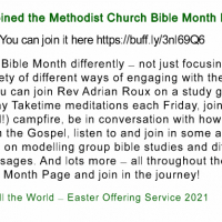 Methodist Church Bible Month Page